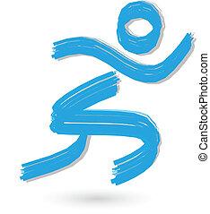 Brühres Runnerfigur-Logo.