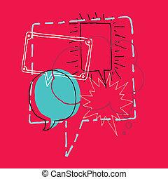 Brainstorming / Diskussion oder Chat und Sprachblasen