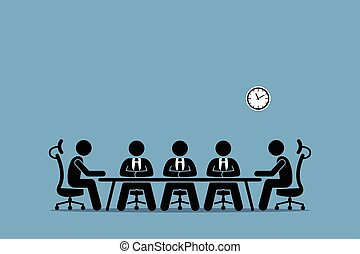 Brainstorming und Diskussion unter Geschäftsleuten.