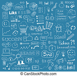 Brainstorming-Vektorelemente im Hintergrund