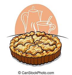 bratapfel, torte