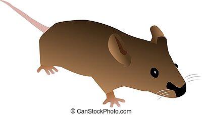 Braune Cartoon-Maus