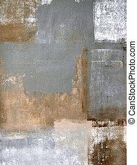 Braune und graue abstrakte Kunst.