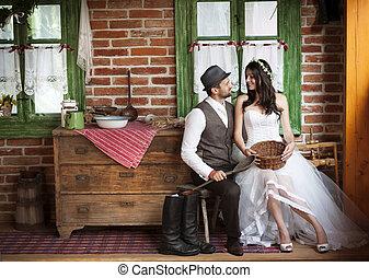 Braut und Bräutigam Hochzeit.