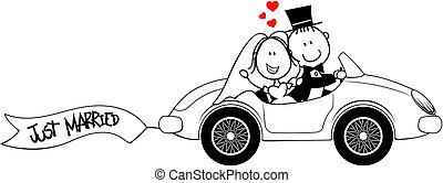 Braut und Bräutigam sind isoliert.