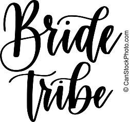 Brautstämme Bachelorette Party Vektor Kalligraphie Design.