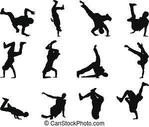 Break-Dance-Silhouette-Set