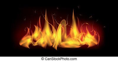 Brennende Feuerflamme