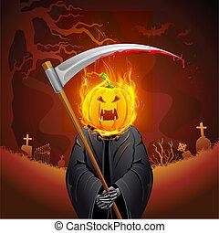 Brennendes Halloween Grimm