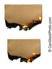 Brennendes Papier