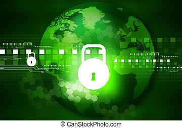 brett, geschlossene, sicherheit, cyber, begriff, stromkreis, vorhängeschloß