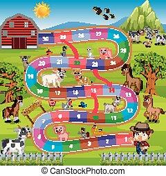 Brettspiel mit landwirtschaftlichem Hintergrund.