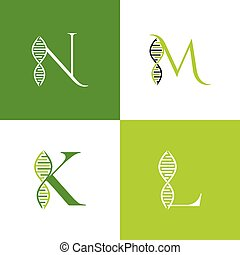 brief, vektor, logo, satz, dns, design