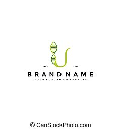 brief, vektor, logo, satz, dns, u, design