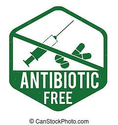 briefmarke, antibiotikum, frei