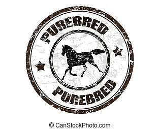 briefmarke, purebred, pferd