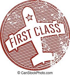 briefmarke, reise, klasse, zuerst