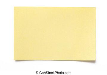 briefpapier, gelber