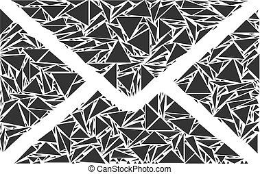 Briefumschlag-Kollektion von Dreiecken
