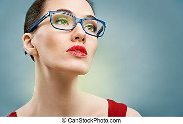 Brille tragen.