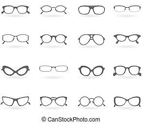 Brillen in unterschiedlichen Stilen
