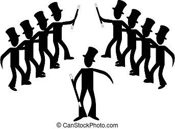 Broadway-Stick-Tänzer...