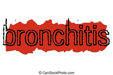 Bronchitis-Aufkleber