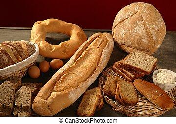 Brot lebt immer noch über dunklem Wald