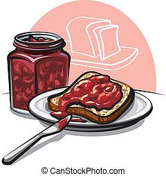 Brot mit Marmelade