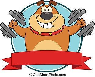 Brown Bulldog mit Dumpingbellen-Label.