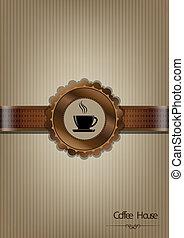Brown Coffee House Menü Design.