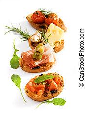 Bruschette, traditionelle italienische Vorspeise