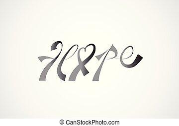 Brustkrebs Bewusstseinsband Hoffnung Logo.