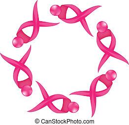Brustkrebs-Logo-Wissenschaftsband