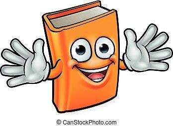 Buch Cartoon Charakter Maskottchen.