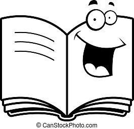 Buch lächeln.