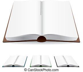 Buch mit weißen Seiten
