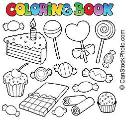 Buch-Süßigkeiten und Kuchen