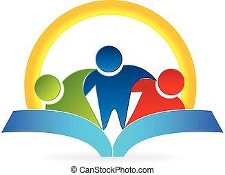 Buch Sonne umarmen Menschen Logo.