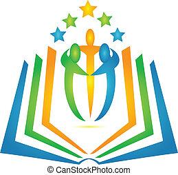 Buch und Schüler, Teamwork-Logo