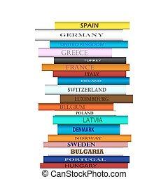 Buchen Sie europäische Ziele Turm.