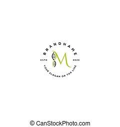 buchstabe m, vektor, logo, satz, dns, design
