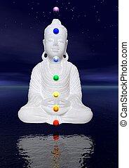 buddha, chakras