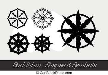 Buddhismussymbole.