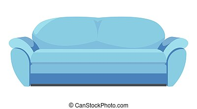 buero, oder, klassisch, wohnungseinrichtung, sofa, blaues