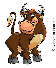 Buffalo lustiger Cartoon.