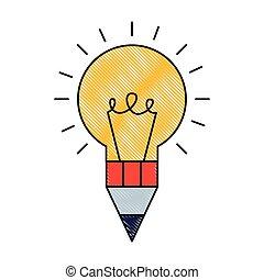 Bulb Idee Stift Kreativität Design künstlerische.