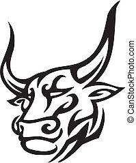 Bull im Stammesstil - Vektorbild.