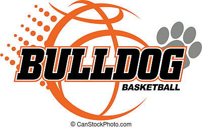 Bulldog Basketball Design.