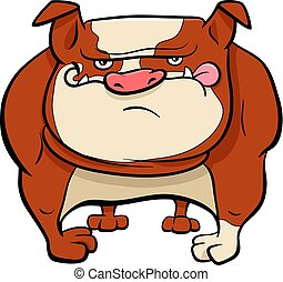Bulldog-Dog-Trickfilm-Tiere.